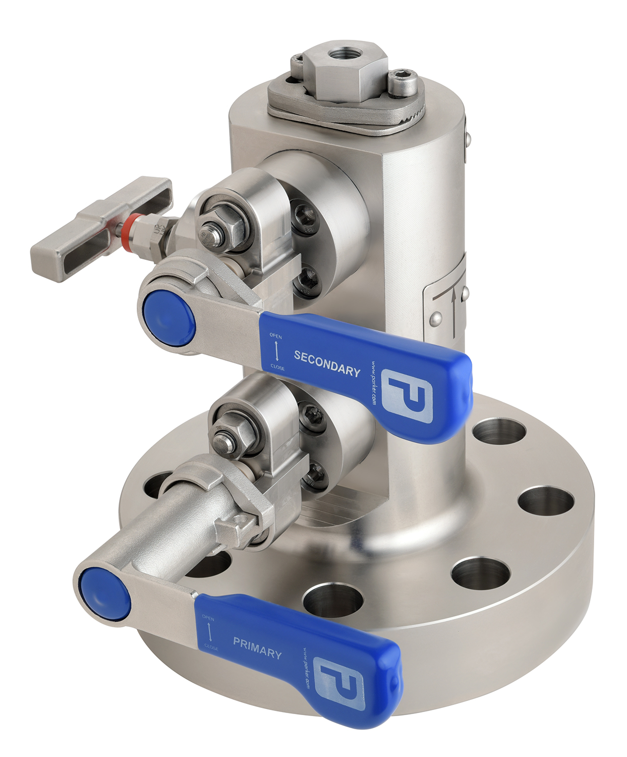 Technical photography of engineering valve