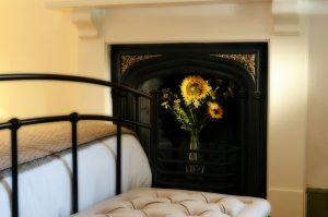 Sunflowers in the fireplace