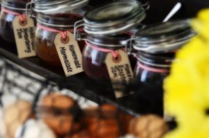 Marmalade and jam jars