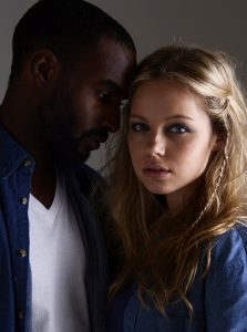 Moody image of young couple