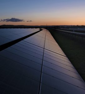 Sunrise at the Solar Farm