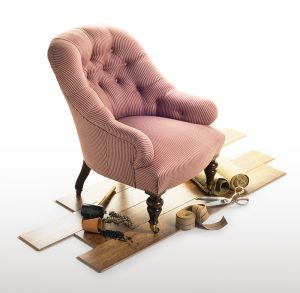 Armchair and its components