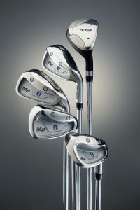 Studio photography of 5 Golf clubs