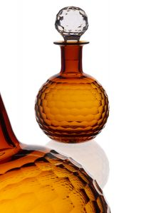 Glassware photography of cut glass decanter