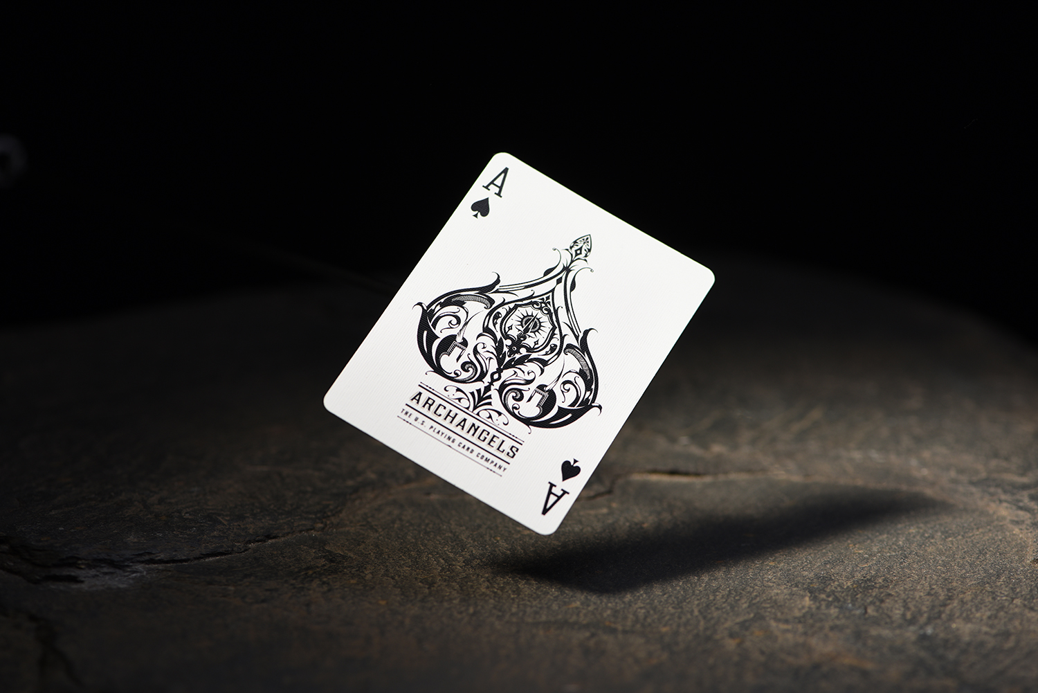 Falling Ace of spades to illustrate Product Photography