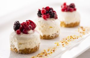 Desserts small cheesecake