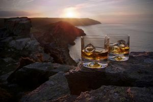 location photography of 2 Whisky tumblers