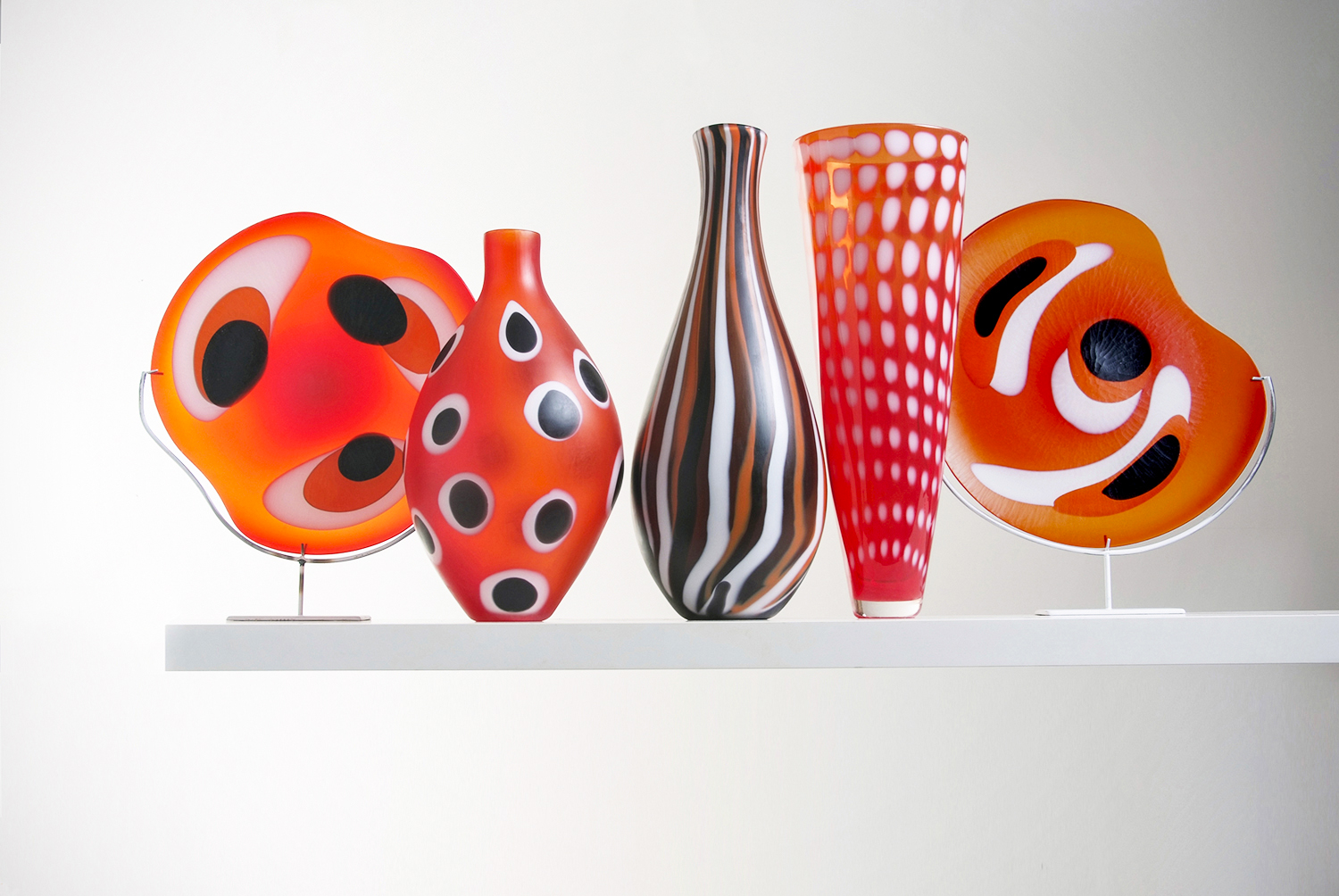 Examples of Glass Art by Simon Moore