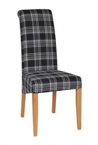 High back upholstered chair