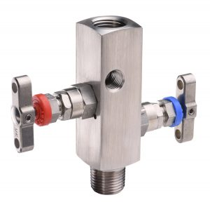 Technical photography of a 2 tap valve