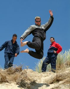 Sand dune jumper for sportswear photography