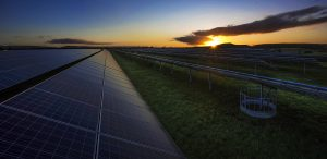 Solar power photography at dawn