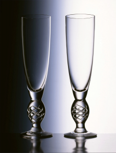 New style air twist Champagne Flutes